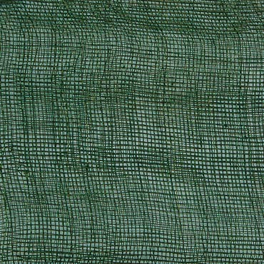 Dark Green Medium Stiff Machine Weave Sinamay Fabric; 50M