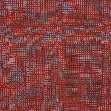 Scarlet Medium Stiff Machine Weave Sinamay Fabric; 50M
