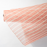 Natural / Red StripeThread Pattern Heavy Sizing Sinamay Fabric