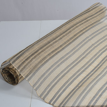Natural / Black StripeThread Pattern Heavy Sizing Sinamay Fabric