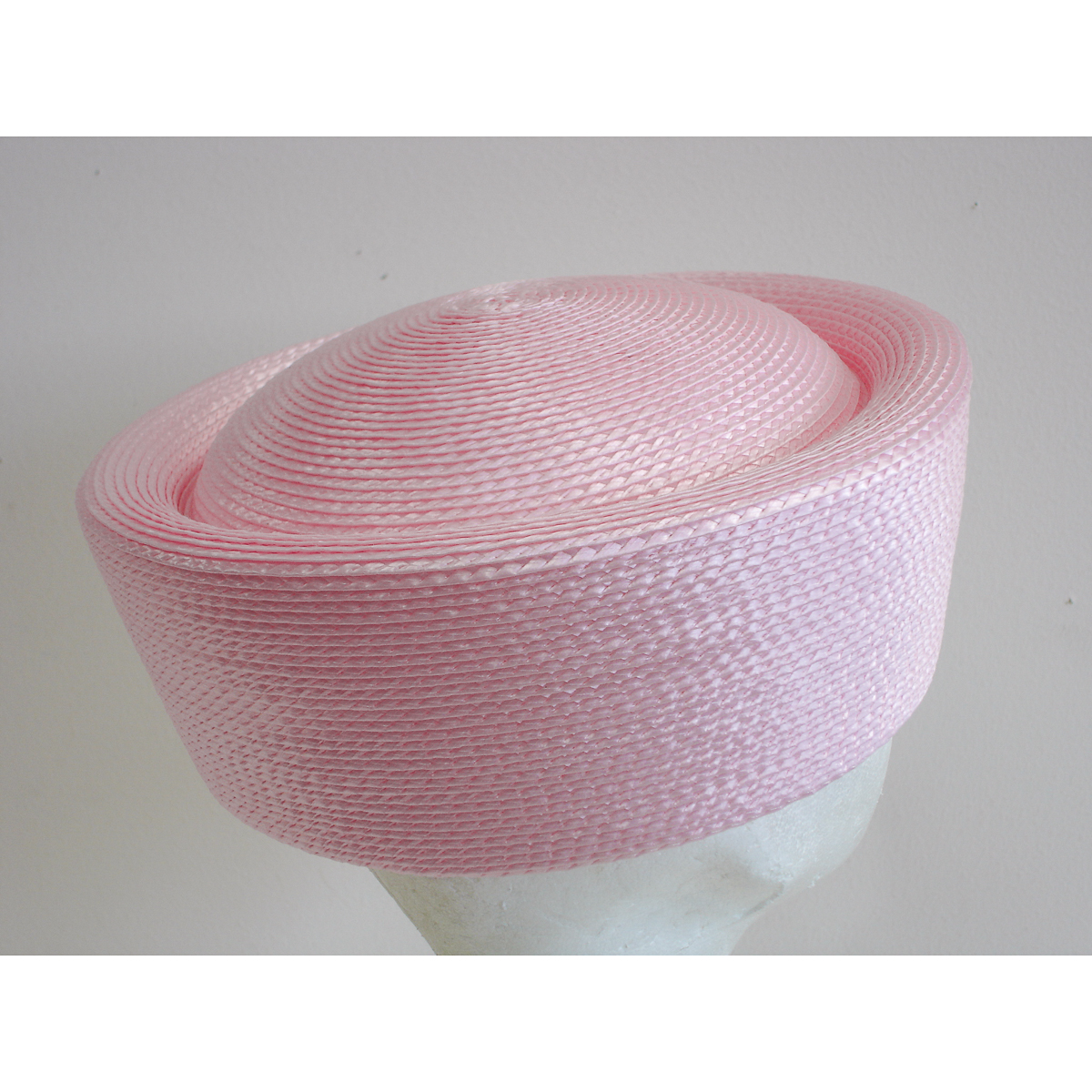 Light Pink Pillbox Plain Hats-UW01R-0-14- Sun Yorkos  611a00ca432