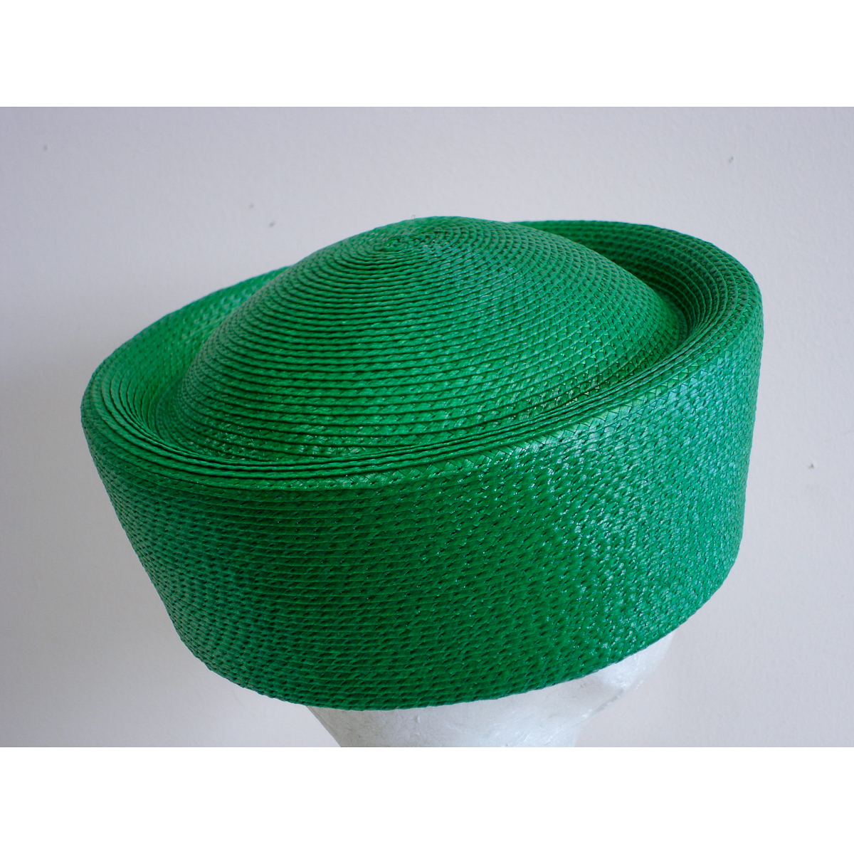 Emerald Green Pillbox Hat Body by Zoria  30ad9634285