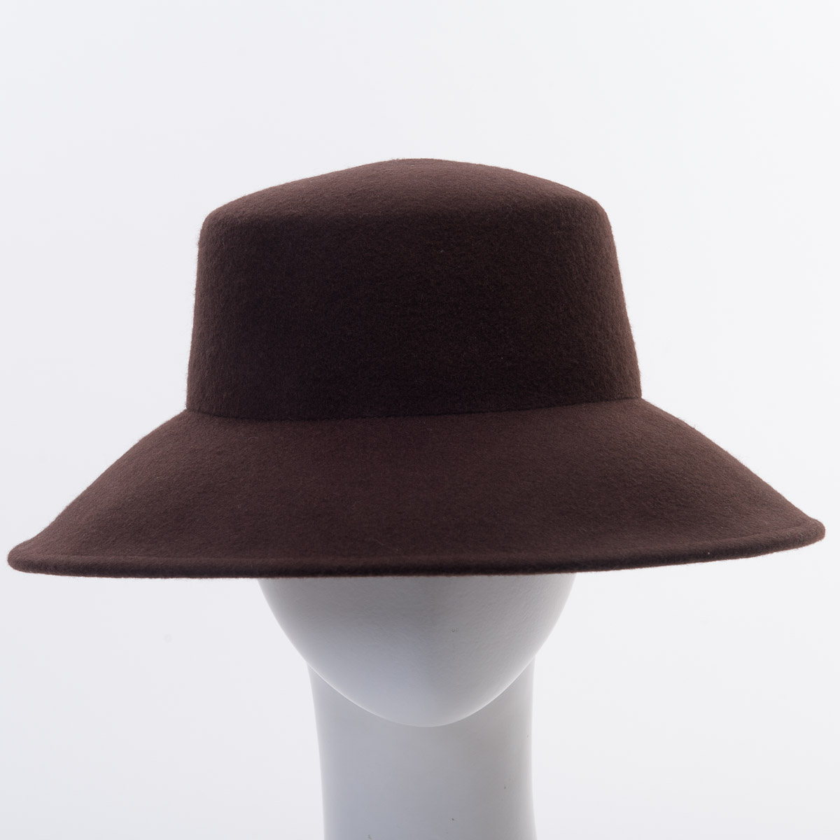 Lampshade flat top felt plain hats w0104 sun yorkos zoria brown lampshade flat top blocked untrimmed felt hat base mozeypictures Images