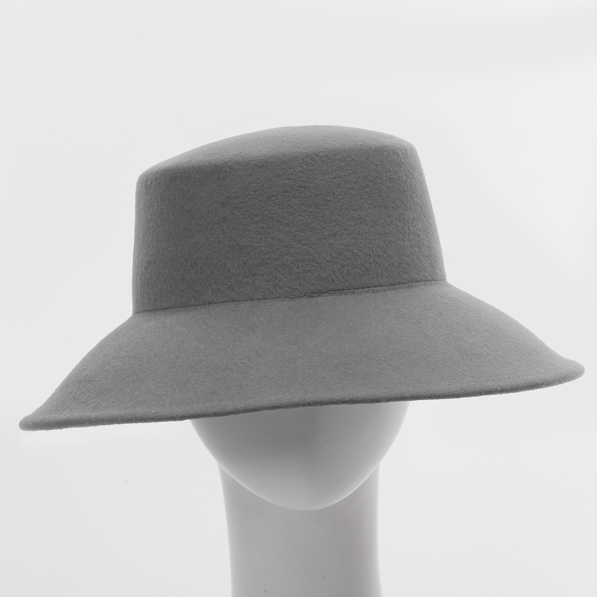 0a7ff5c531dba Grey Lampshade Flat Top Blocked Untrimmed Felt Hat Base