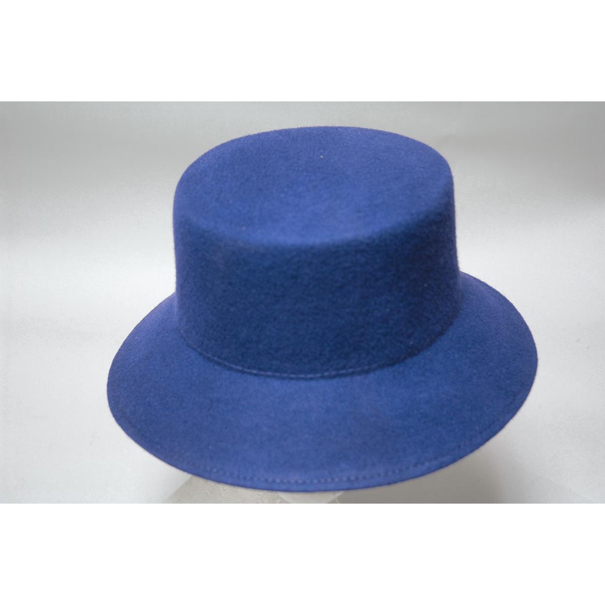 f2a70afe01fe2 Royal Lampshade Small Brim Flat Top Blocked Untrimmed Felt Hat Base