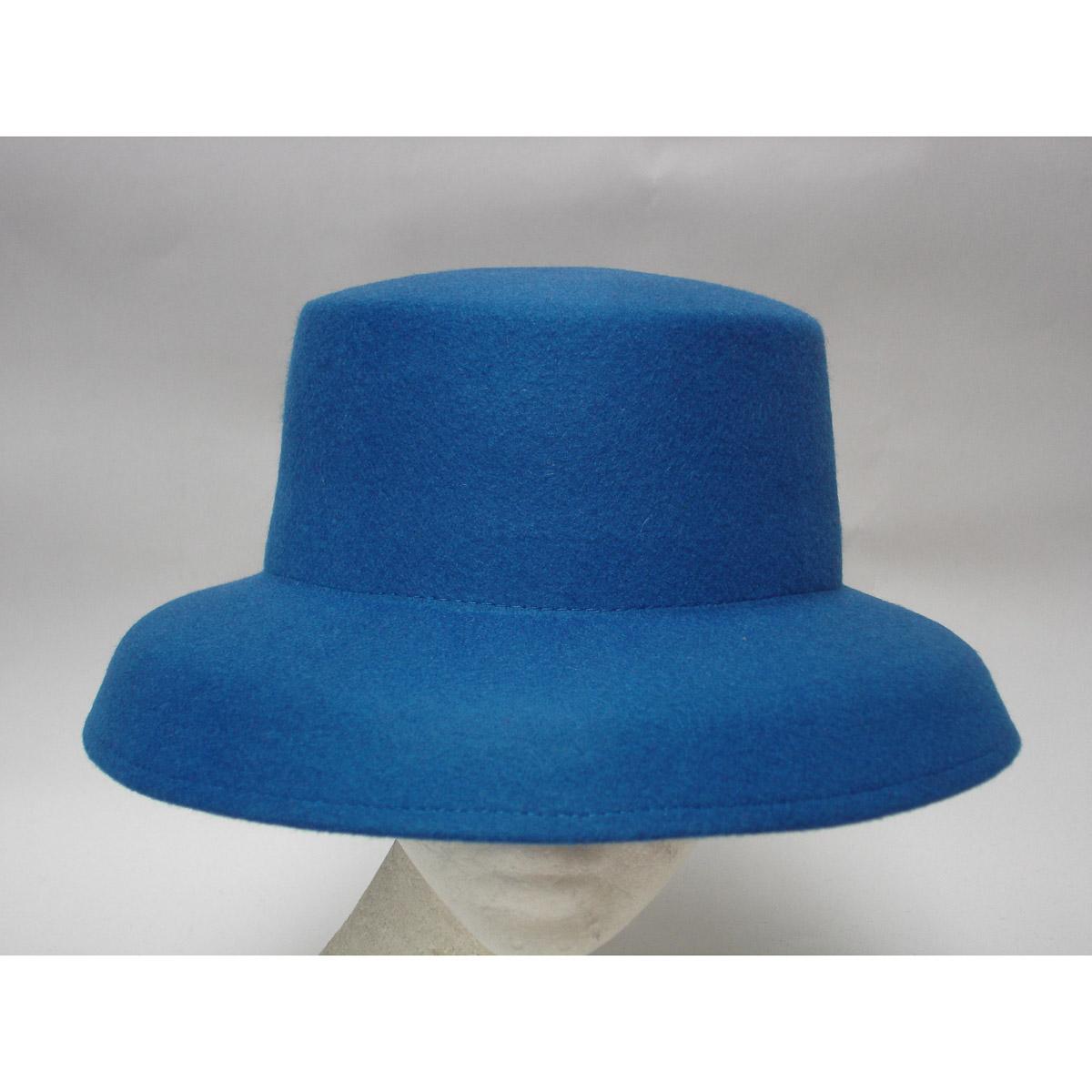 Royal Down Kettle Brim Dome Shape Blocked Untrimmed Felt Hat Base