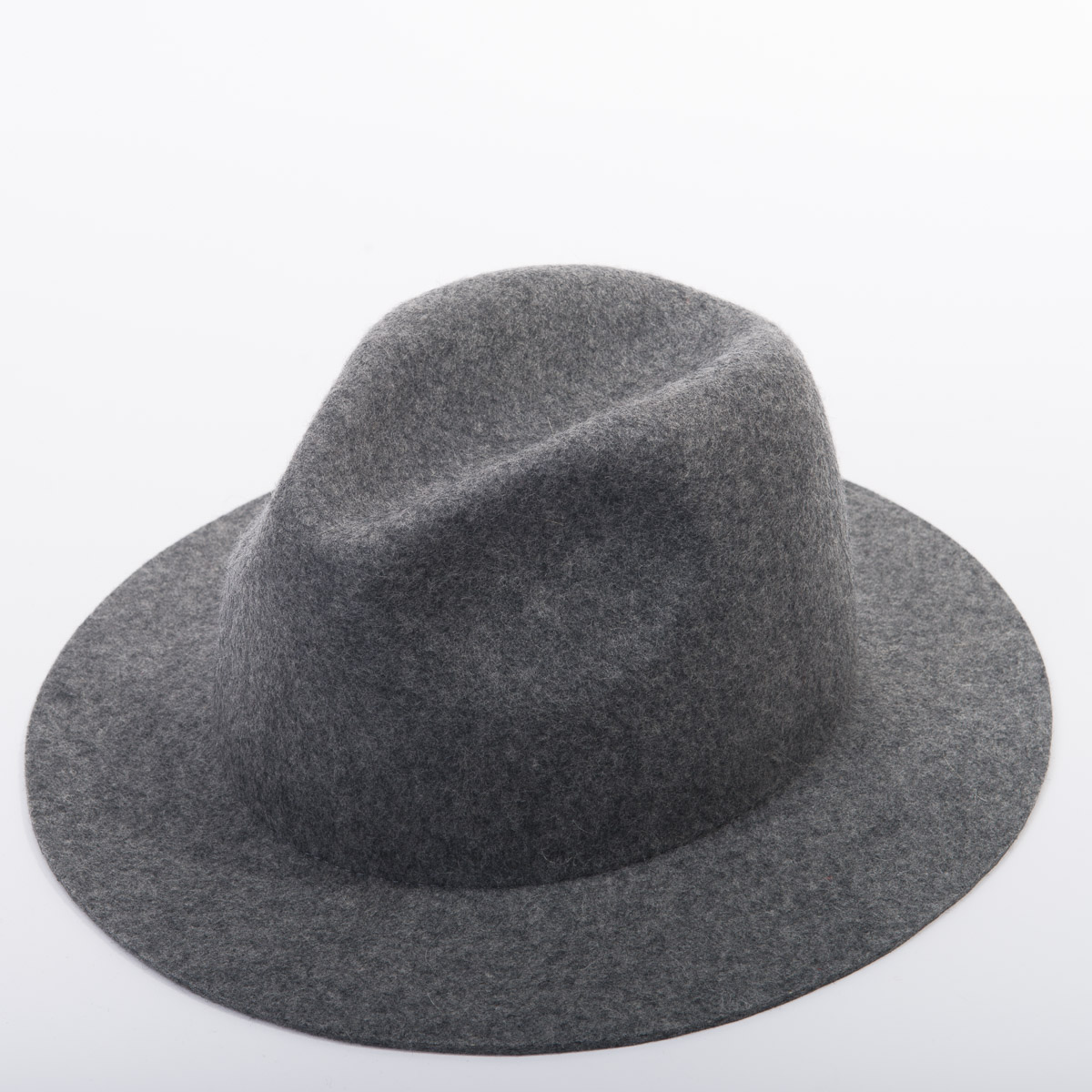 Light Grey Heather Medium Brim Fedora Felt Plain Hats-W0167A-MIX GREY- Sun  Yorkos  a6251e8fe8c