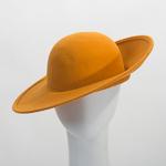 915728aa42085 Camel Wide Sloping Up Brim Up Brim Round Top Bowler Felt Plain Hats ...