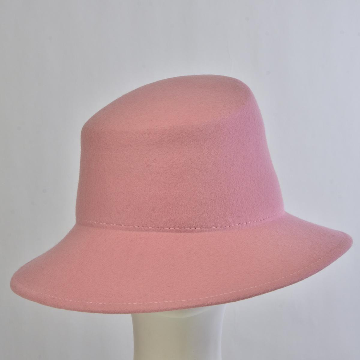 6ce97dc7bd2 Pink Slant Tall Crown Felt Plain Hats-W6007-PINK- Sun Yorkos