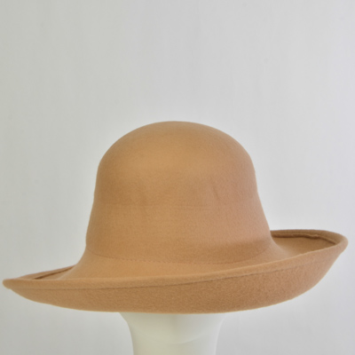 d4df75845 Side Roll up Dome top Felt Hat Body_ by Zoria| sye.com