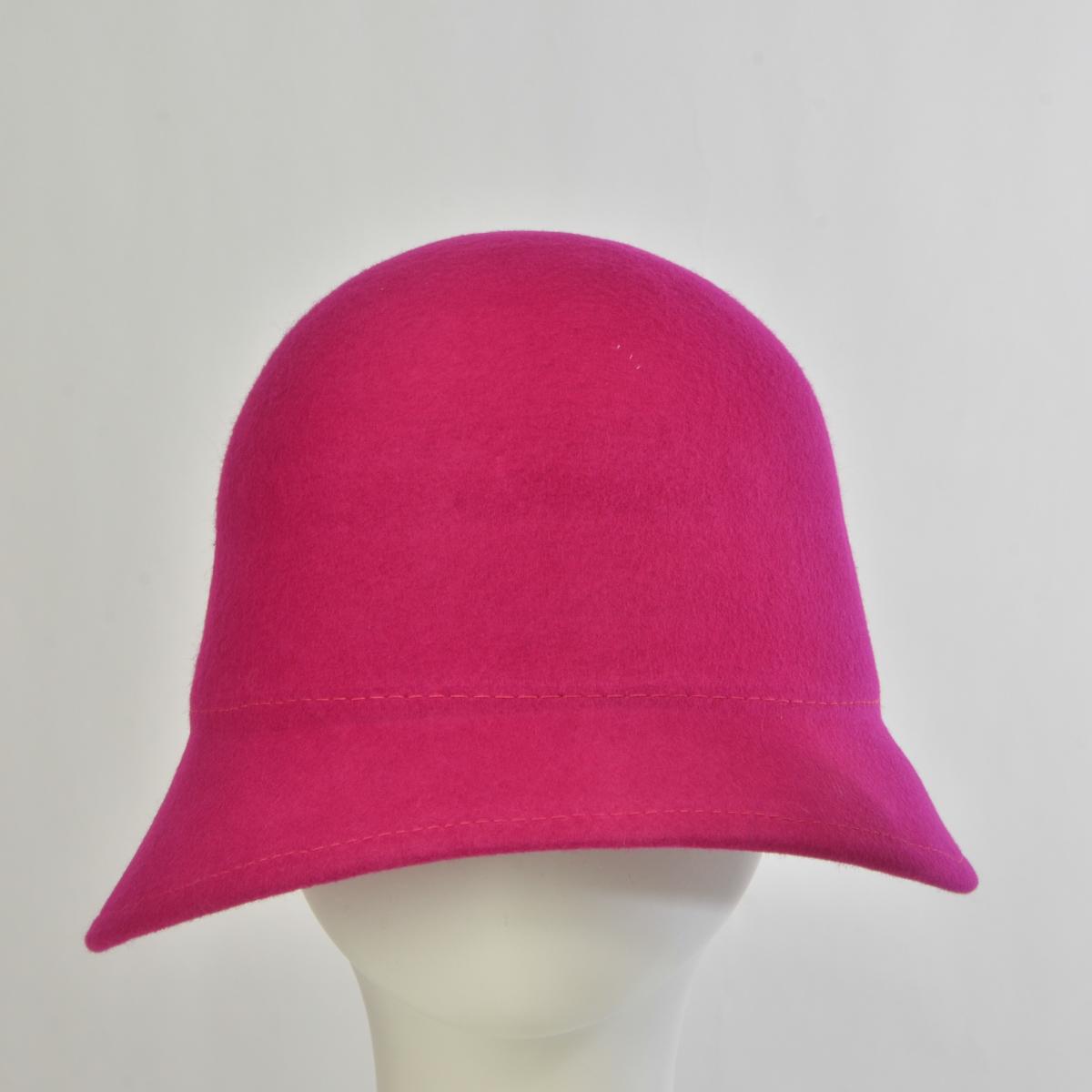 11eee55a54f Fuchsia Bell Shaped Cloche Felt Plain Hats-W7005-FUCHSIA- Sun Yorkos ...