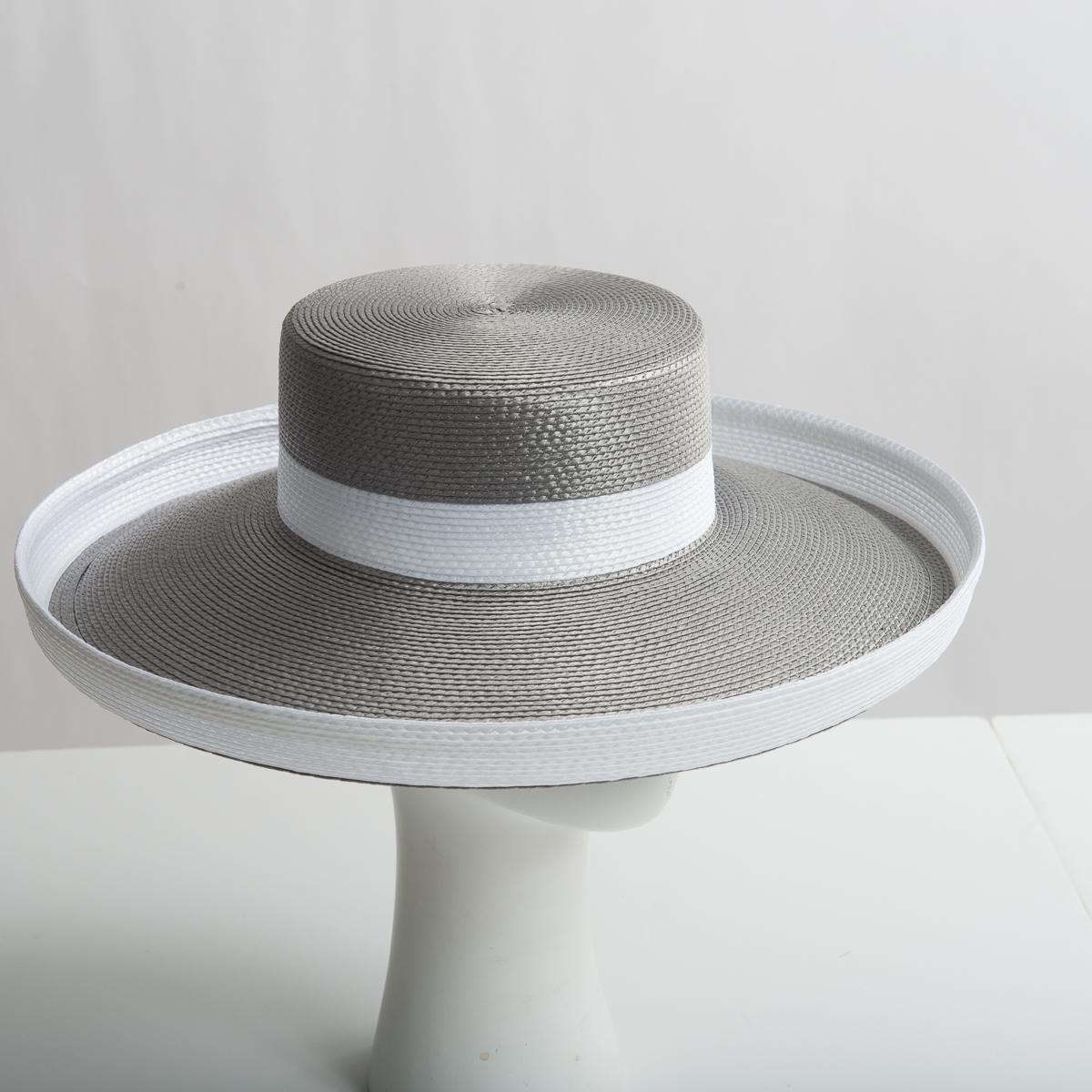 2b2ef7f7a0201c Grey - White Polypropylene Straw Medium Brim Plain Hats-WN0183R-0-07.01- Sun  Yorkos | Zoria