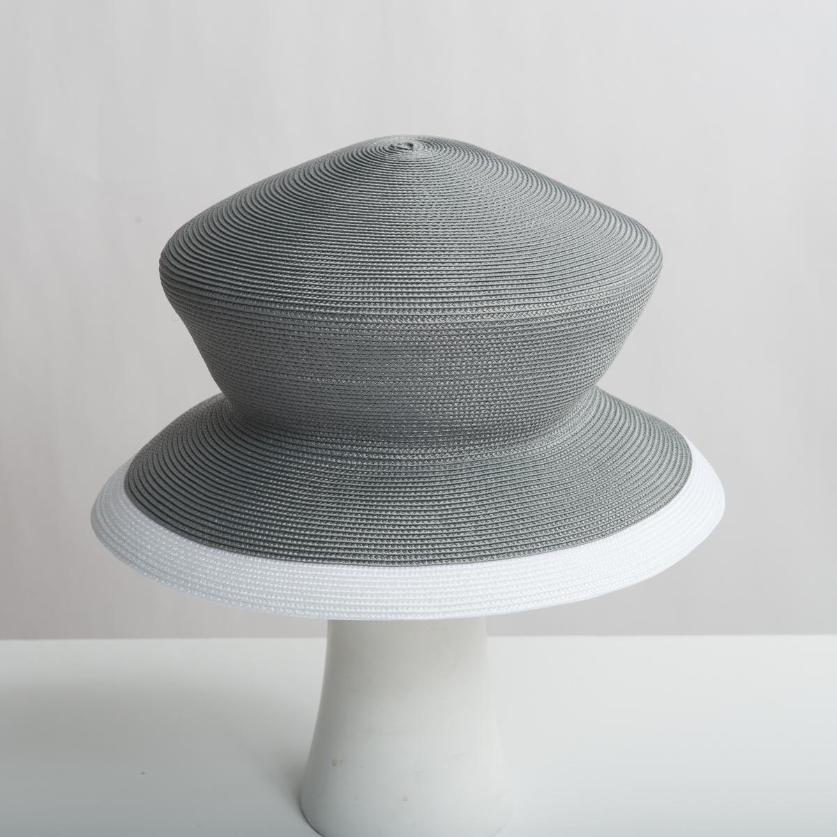 2e80405651ed3d Grey - White Dull Polypropylene Straw Medium Brim Plain Hats-Y6026_88-04.06-  Sun Yorkos | Zoria