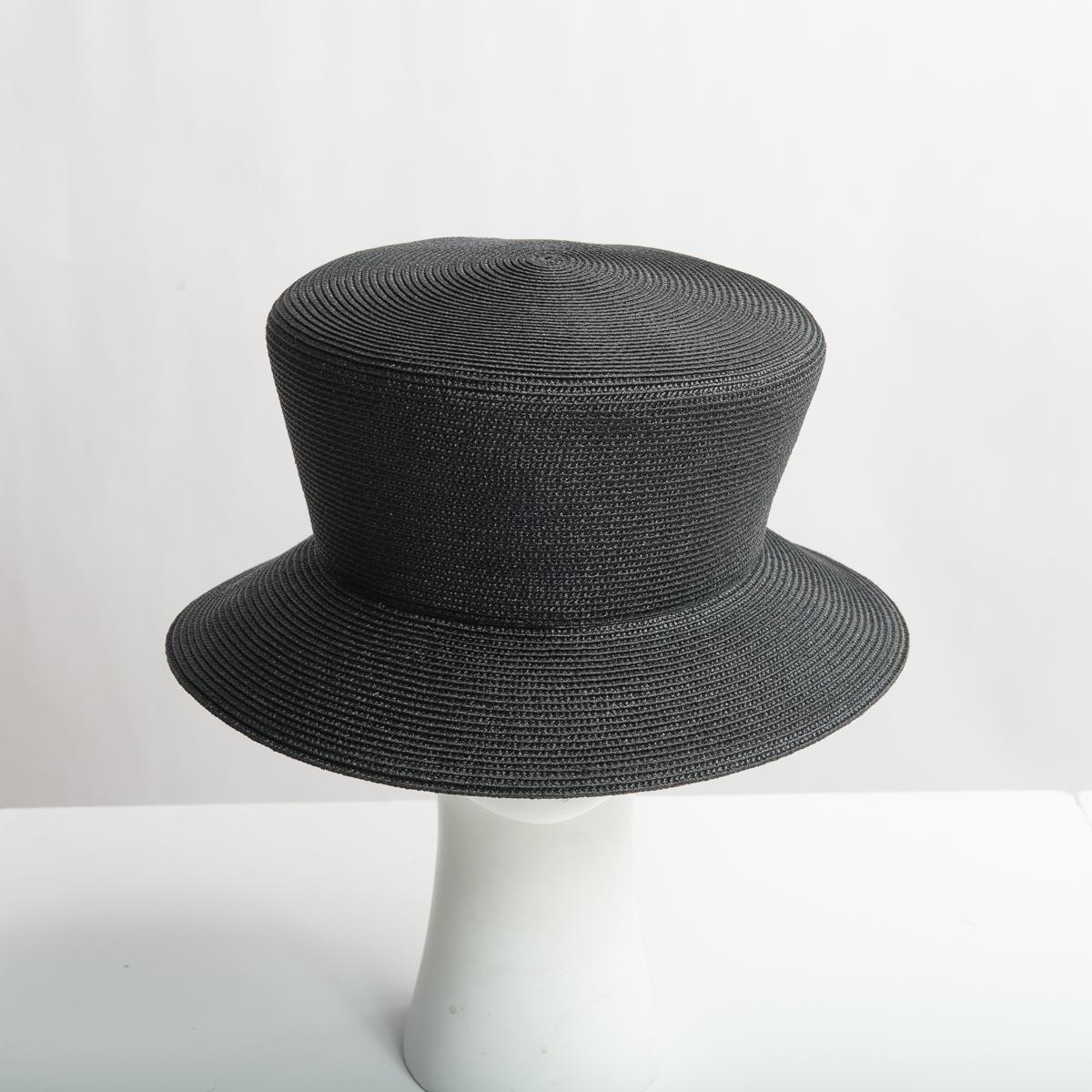 26a63111303415 Black Dull Polypropylene Straw Medium Brim Plain Hats-Y6030_88-05- Sun  Yorkos | Zoria