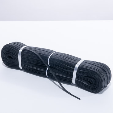Black Narrow Polypropylene Straw Braid - 288 YD