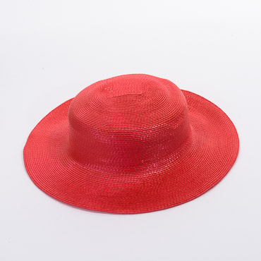 Shiny Poly Straw Hatbody With Open Underrow
