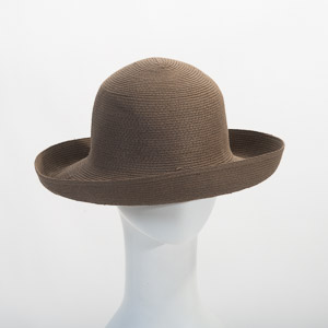 Brown Roller Paper Blocked Untrimmed Hat Base