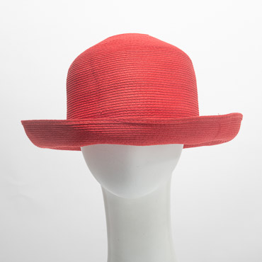 Red Roller Paper Blocked Untrimmed Hat Base