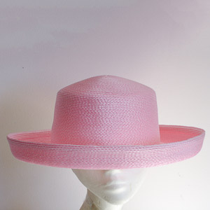 Medium Up Brim Blocked Untrimmed Poly Hat Base