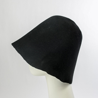 Un-Blocked Hood Black Felt Hat Body