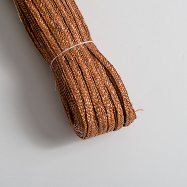 Rust 5 mm Natural Milan Straw Braid; 65M