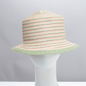 Green Pink Natural Fine Paper Bucket Hat
