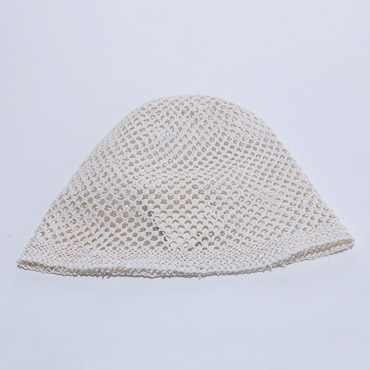 Off White Crochet Paper Cloche Hats