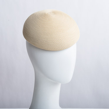 Poly Straw Blocked Untrimmed Poly Straw Pillbox Hat Base