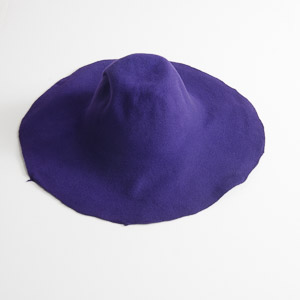 3'' Brim Un-Blocked Purple Felt Hat Body
