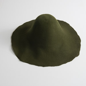 4'' Brim Un-Blocked Olive Felt Hat Body