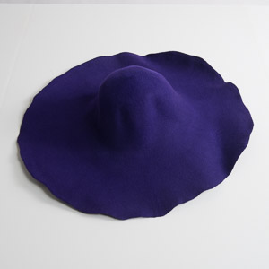 6'' Brim Un-Blocked Purple Felt Hat Body