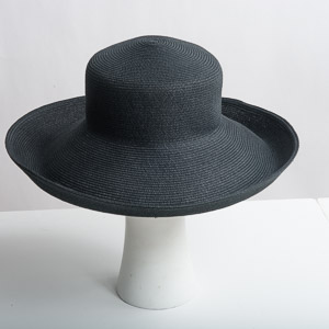 Wide Brim Paper Blend Blocked Untrimmed Hat Base