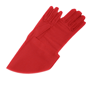 Red 22'' Long Satin Gloves