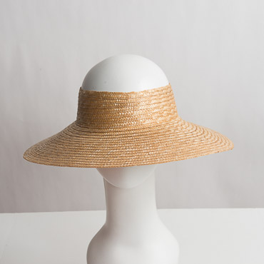 Natural Milan Straw Open Crown Blocked Plain Hat Base-Dozen