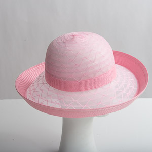 56466c537f53c Pink Poly Braid W Crin Medium Brim Blocked Untrimmed Hat Base