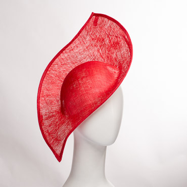 Pointed Patterned Sinamay Millinery Bases