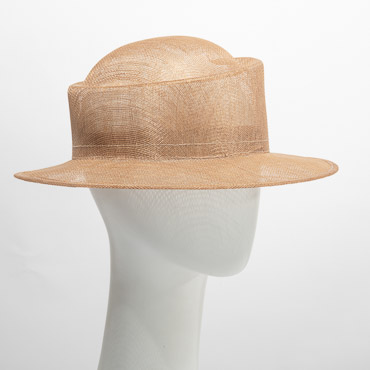 Blocked Sinamay Slanting Crown Hat Body