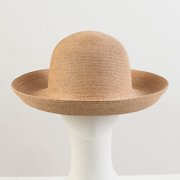 Natural Heavy Toyo Paper Breton Blocked Plain Hat Base