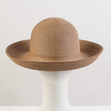 Tobacco Heavy Toyo Paper Breton Blocked Plain Hat Base
