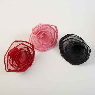 5 Inch Sinamay Flower Trims