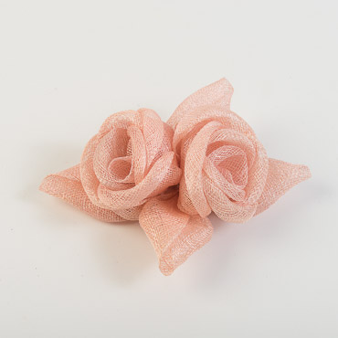 Pale Pink Rose with Leaves Bow Trims