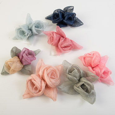 Rose with Leaves Bow Trims