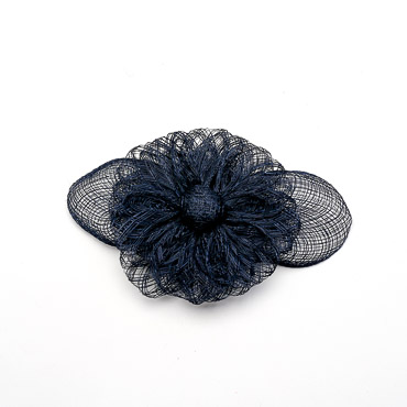 Black Sinamay Flower Bow Trims