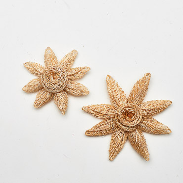 Sinamay Flower Star Trims