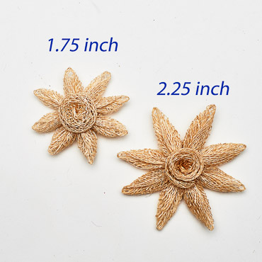 Natural Small Sinamay Flower Star Trims
