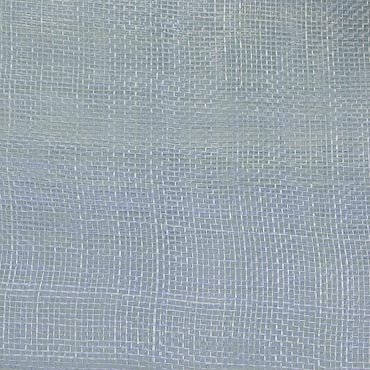 Silver Blue Medium Stiff Machine Weave Sinamay Fabric; 50M