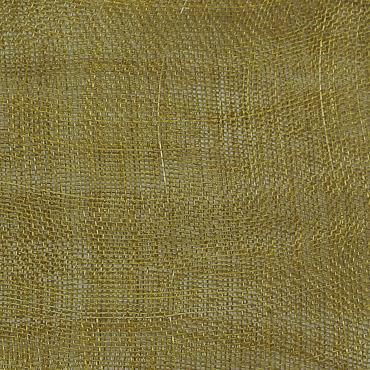 Olive Medium Stiff Machine Weave Sinamay Fabric; 50M
