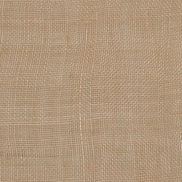 Beige Medium Stiff Machine Weave Sinamay Fabric; 50M