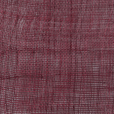 Burgundy Medium Stiff Machine Weave Sinamay Fabric
