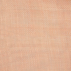 Peach Medium Sizing Stiff Sinamay Fabric; 50M